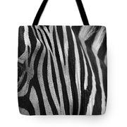 Extreme Close Up Of A Zebra Tote Bag