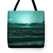 Extreme Green Sunset  Tote Bag