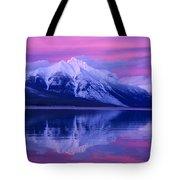 Extreme Sunset On Lake Mcdonald Tote Bag