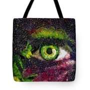 Eye And Butterflly Vegged Out Tote Bag