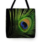 Eye Of A Peafowl Tote Bag