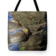 Eye Of The Crocodile Tote Bag