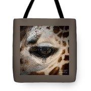 Eye Of The Giraffe Tote Bag