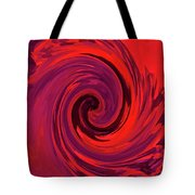 Eye Of The Honu - Red Tote Bag