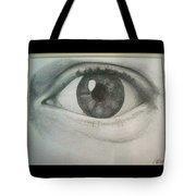 Eye Portrait Tote Bag