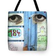 Eyes Door Tote Bag