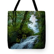 Eyes Over The Flowing Water Tote Bag
