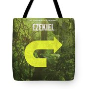 Ezekiel Books Of The Bible Series Old Testament Minimal Poster Art Number 26 Tote Bag