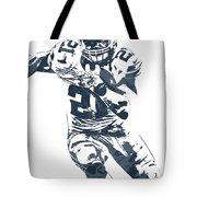 Ezekiel Elliott Dallas Cowboys Pixel Art 3 Tote Bag