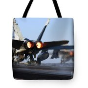 F 18 Hornet-aircraftcarriers Tote Bag