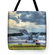 F-18 Hornet Takeoff Tote Bag