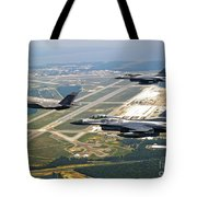F-35 Lightning II Aircraft In Flight Tote Bag