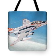 F-4b Phantom II Of Vf-111 Tote Bag