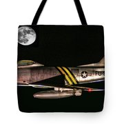 F-86 And The Moon Tote Bag