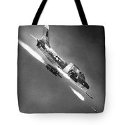 F-86 Jet Fighter Plane Tote Bag
