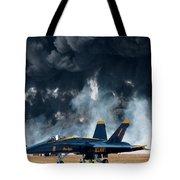 F/a -18 Super Hornet, U S Navy Blue Angeles Tote Bag