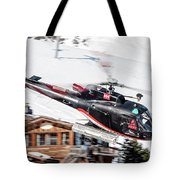 F-gsdg Eurocopter As350 Helicopter Courchevel Tote Bag