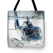 F-hana Eurocopter Ec-130 Helicopter Landing Tote Bag