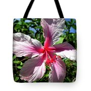 F17 Pink Hibiscus Tote Bag