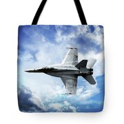 F18 Fighter Jet Tote Bag by Aaron Berg