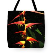 F19 Heliconia Flowers Hawaii Tote Bag