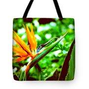 F21 Bird Of Paradise Flower Tote Bag