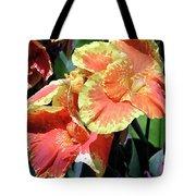 F24 Cannas Flower Tote Bag