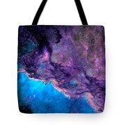 Purple Nebula Tote Bag