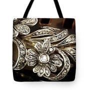 Faberge Diamond Hair Comb Detail Tote Bag