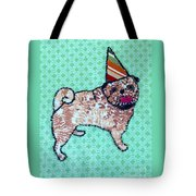 Fabric Pug Tote Bag