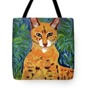 fabulous cat portrait in the style of Van Gogh's Tote Bag