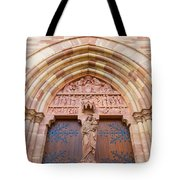 Facade Church Of Obernai,alsace France 073540 Tote Bag