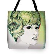 Face - Use Red-cyan 3d Glasses Tote Bag