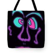 Face 3 On Black Tote Bag