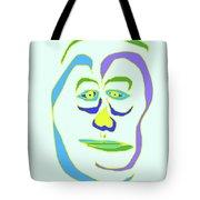 Face 5 On Light Blue Tote Bag