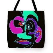 Face 7 On Black Tote Bag