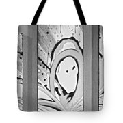 Face In Space B G Tote Bag