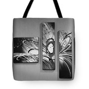 Face In Space B W 0 Tote Bag
