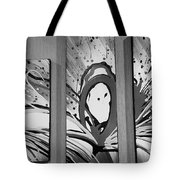 Face In Space B W I Tote Bag