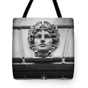 Face In Stone Tote Bag