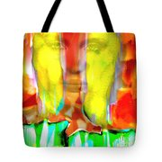 Face In The Flames Tote Bag