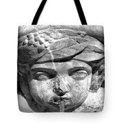 Face In The Fountain Tote Bag