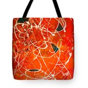 Face In The Mirror Abstract Painting Tote Bag