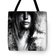 Face In The Mirror Tote Bag