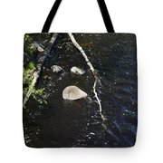 Face In The River Tote Bag