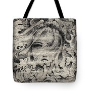 Face In The Storm Tote Bag