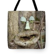 Face In The Woods Tote Bag