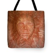 Face In Wall Tote Bag