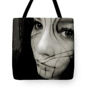 Face Lines Tote Bag