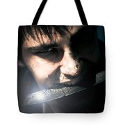 Face Of Fear And Danger Tote Bag